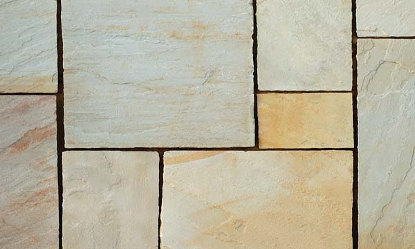 Father white (Sandstone) Handcut paving