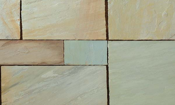 Mint Sandstone handcut paving