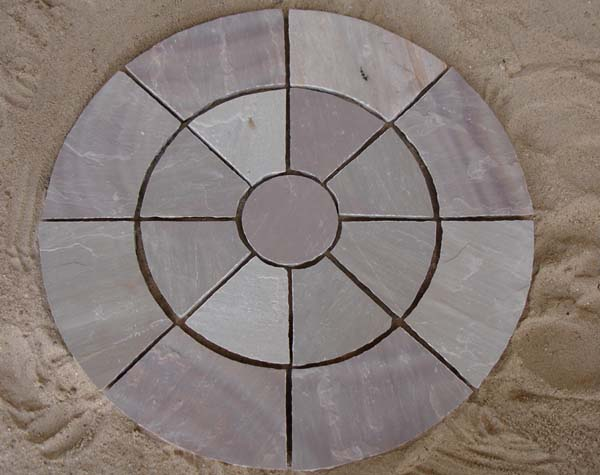 Autumn Brown Circle Paving