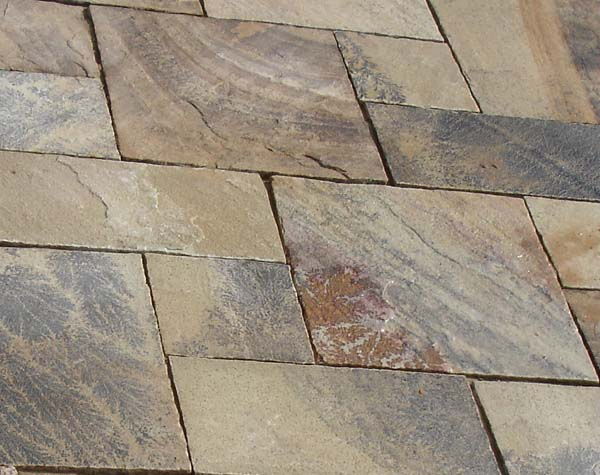 Mint Fossil Sandstone handcut paving