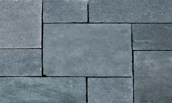 Black Lime stone hand cut paving natural surface