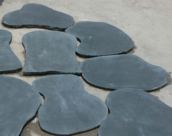Black lime stone Stepping stone