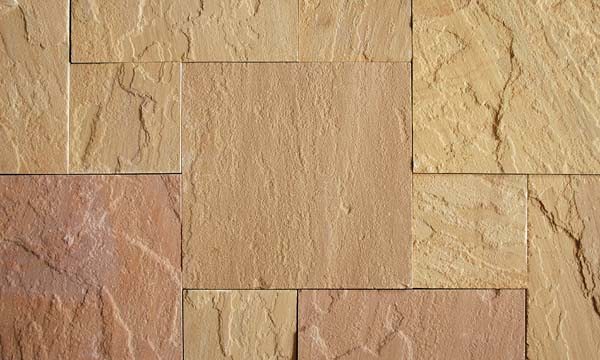 Golden leaf Sawn tiles