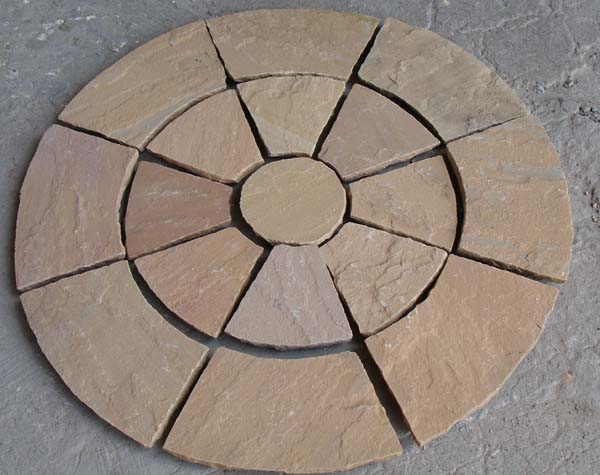 Golden Leaf Circle paving
