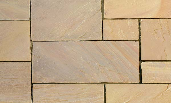 Golden Leaf Hand cut paving natural