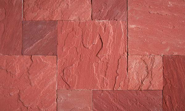 Dhoplur Red Sawn and Natural Surface tiles