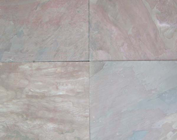 Lime Pink Sawn edges and Natural surface